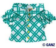 Plush Clothing Turquoise Blouse