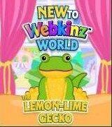 New to Webkinz World Lemon Lime Gecko