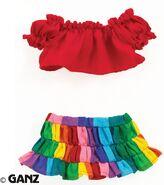 Plush Clothing Kaleidoscope Skirt Set