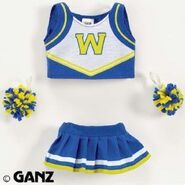 Plush Clothing Cheerleader Outfit