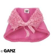 Plush Clothing Pink Knit Capelet