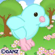 Preview blue springtime chick