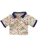 Plush Clothing Polka Dot PJ Top