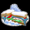Frosty sardine sandwich