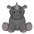 Signature Endangered Black African Rhinoceros