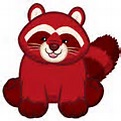 Red Velvet Raccoon