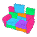 Colorblock Couch
