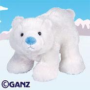 Arctic polar bear plush