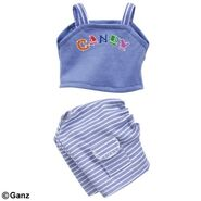 Plush Clothing Candy Capri Set