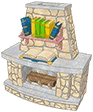 Fabled Books Fireplace