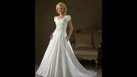 Wedding Dress A-line Ivory Chapel Train Scoop Wedding Gowns (Style Code 06986)