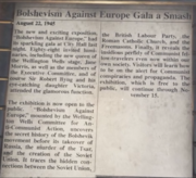 """Bolshevism Against Europe Gala a Smash"" article."