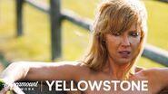 Beth Bathes in the Trough Yellowstone Season 1 Paramount Network