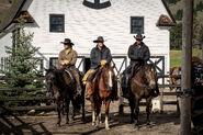 Yellowstone - Stills - Characters - Kayce Dutton - John Dutton - Rip Wheeler