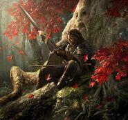Eddard z Lodem w Bożym Gaju