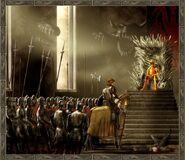 Eddard, Jaime, Aerys w sali tronowej