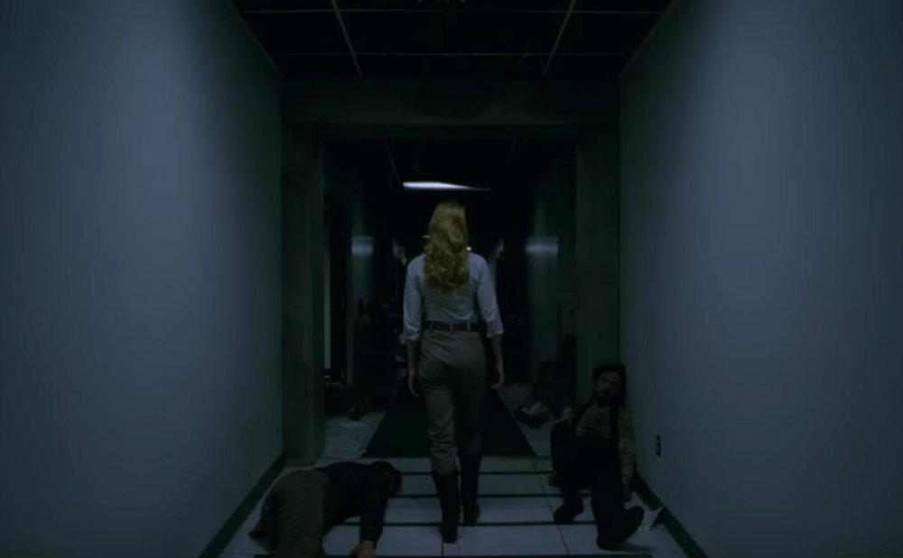 Dolores in hallway at Wesworld hub.jpg