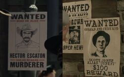 Wanted posters for Bounty Hunters.