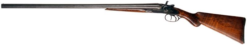 12 gauge double-barreled shotgun