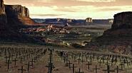 Field of crosses overlooking Pariah