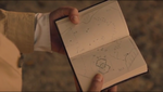 The raj map in notebook