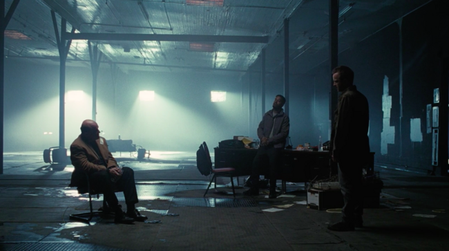 Screenshot of Whitman kidnapped by Caleb and Francis on Westworld, season 3, episode 7: Passed Pawn.