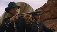 Contrapasso Union soldier aiming Colt 1878 coach gun