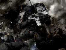 Ordinator fighting Iron Warriors