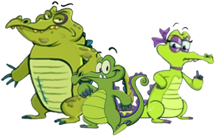 DEDSEC17 Swampy Allie and Cranky pose