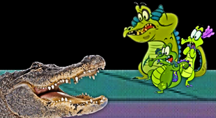 Scared by the Alligator