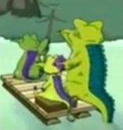 Gator face away