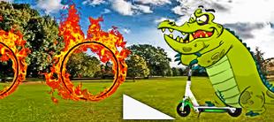 DEDSEC17 Cranky's Flaming Hoop Challenge!!!