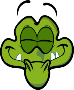 Swampy Head Eyes Shut