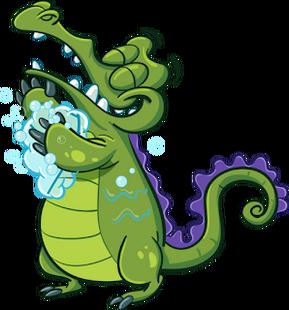 WMW Swampy Poses showering-L