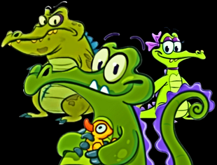 Cranky, Swampy and his girlfriend Allie