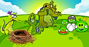 DEDSEC17 Swampy Allie and Cranky Angry Birds