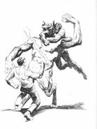 Garou fist fighting