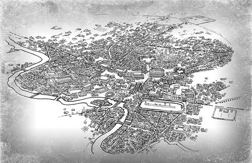 Map of Rome circa 360