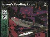 Aaron's Feeding Razor