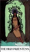The High Priestess, used to represent Dreamspeakers in Tarot