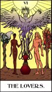 The Lovers, used to represent Cult of Ecstasy in Tarot