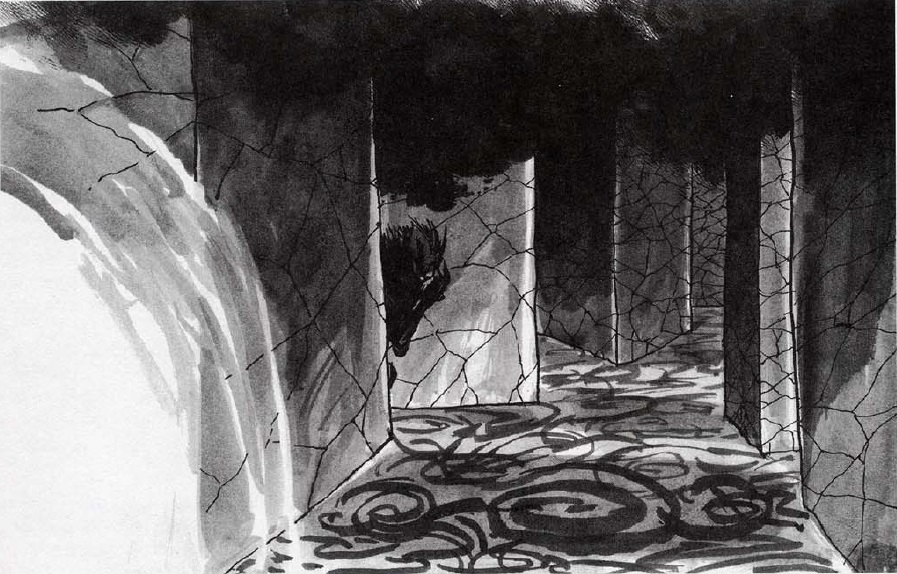 Black Spiral Labyrinth