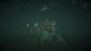 Ghost children in the ending cutscene