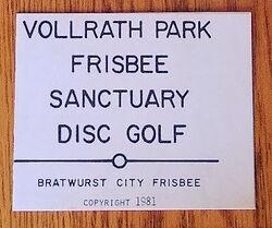1981 Vollrath Park Frisbee Sanctuary Disc Golf scorecard cover.jpg