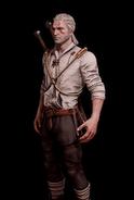 G SS Geralt w lnianej koszuli skórka