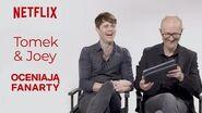 Joey Batey i Tomek Bagiński oceniają fanarty Wiedźmin Netflix