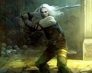 W1 SS Geralt srebrny miecz