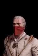 G SS Geralt czerwona chusta skórka