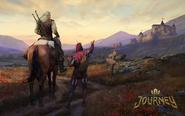 G T Geralt i Jaskier Podróż