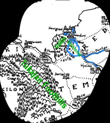 Lokalizacja, w której powinna znajdować się Emblonia na mapie czeskiej